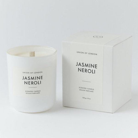 Union Of London | Jasmine Neroli Candle - White | A LITTLE FIND