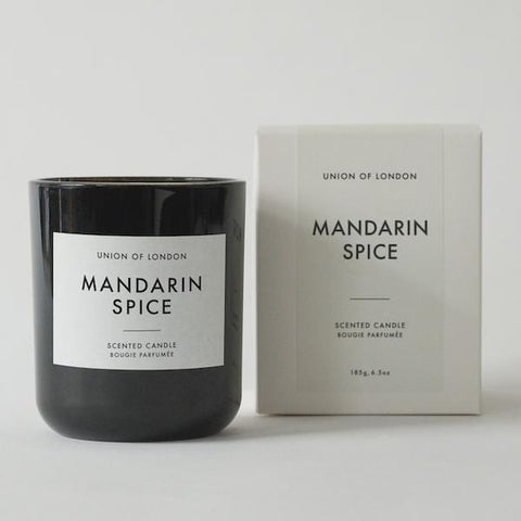 Union Of London | Mandarin Spice Candle - Black | A Little Find