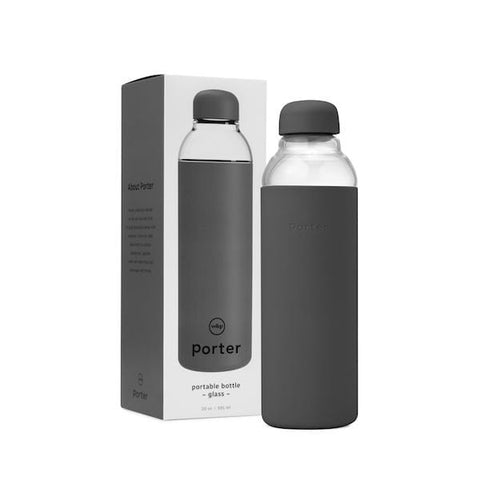 W&P Porter | The Porter Water Bottle - Charcoal 20oz | A Little Find