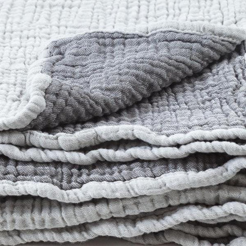 Mori | Cuddle Blanket - Grey & Slate | A Little Find