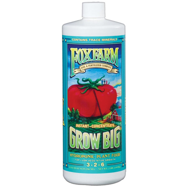 FoxFarm Grow Big Hydro Liquid Concentate 4 Sizes