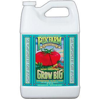 FoxFarm Grow Big Hydro 1 Gallon 1G - nutrient fertilizer garden foxfarm base