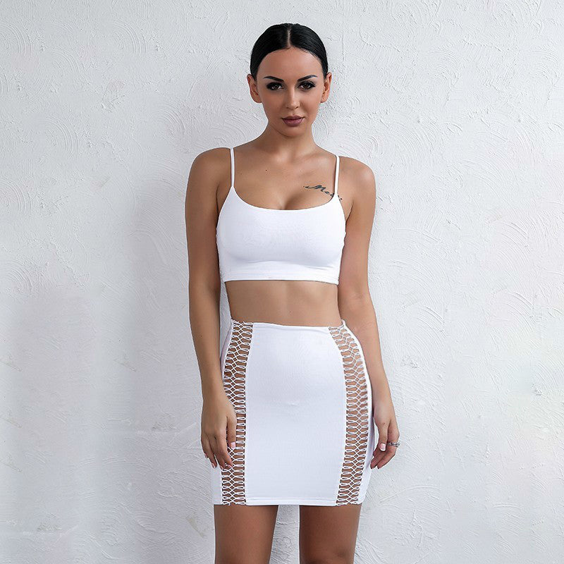 6f69e6b259 White Cut Out Crop Two Piece Mini Dress - 3 Colors Available – Lust ...
