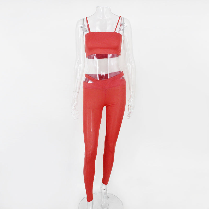 Two Piece Crop Top and Legging Set - 3 Colors Available