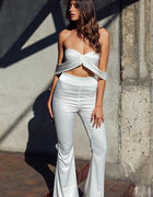 Strapless Off The Shoulder Two Piece Jumpsuit - 2 Colors Available