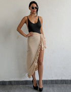 Chiffon Ruffle Wrap Maxi Skirt - 5 Colors Available