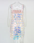 Multi Fringe Sequin Dress - 2 Colors Available
