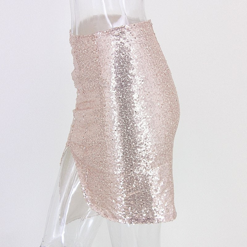 Sequin Bodycon Mini Skirt - 2 Colors Available