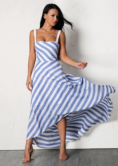 Sleeveless Stripe Maxi Dress - 2 Colors Available