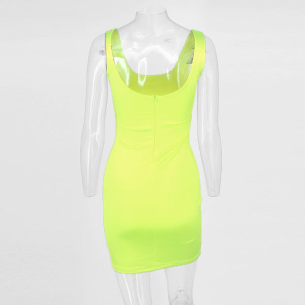 Kim Kardashian Inspired Bodycon Cutout Dress in GREEN