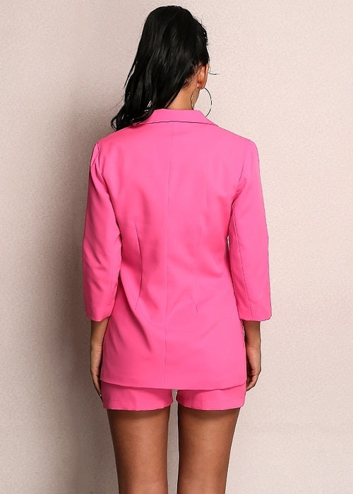 2-piece Blazer Suit and Short Set in PINK