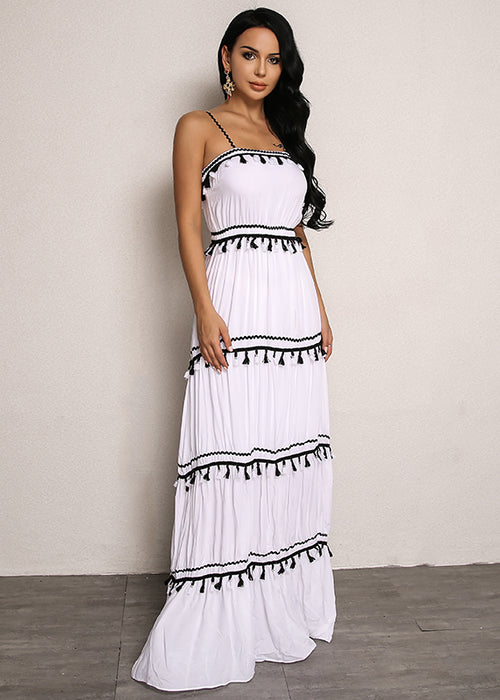 Tassel Detail Maxi Dress