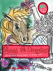 Animals with Occupations Art Cover Mock Up