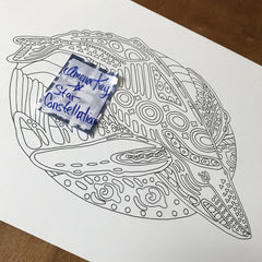 Cerus Whale Art - Star Constellations Coloring Book