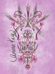 Stylized Lily Art - French Flower Collection