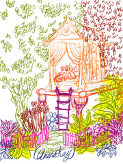 Treehouse Art - Dragons in the Garden Art Coloring Book