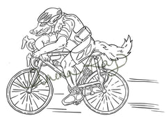 Wolf Pro Biker Art - Animals with Occupations Artwork