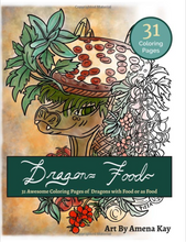 Load image into Gallery viewer, Dragon Food Coloring Book - Dragons as Food and With Food