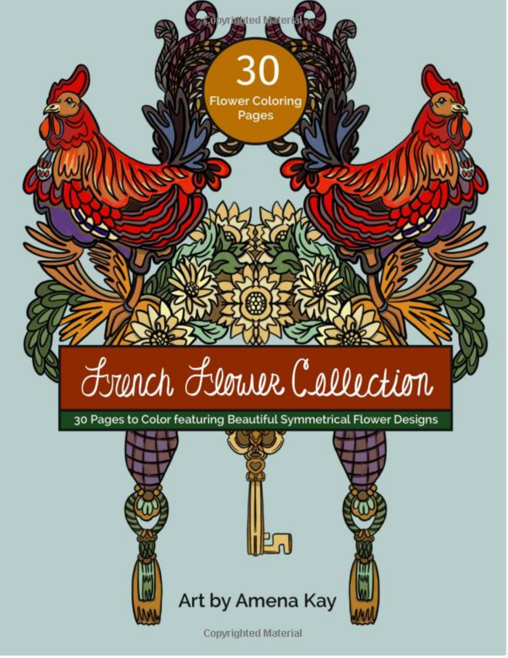 French Flower Collection Coloring Book