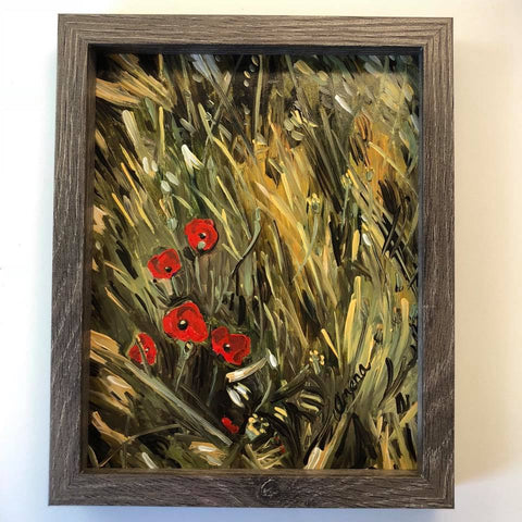 """Poppy Field"" Flower Painting"