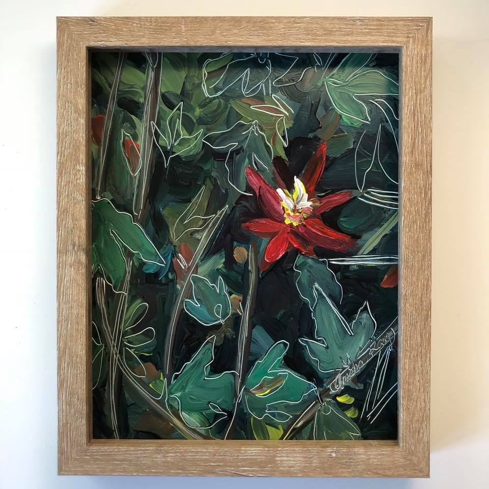 """Hidden Treasurer"" Flower Painting"