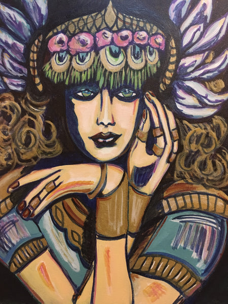 """Athena"" Artwork - Original Arcylic Painting"