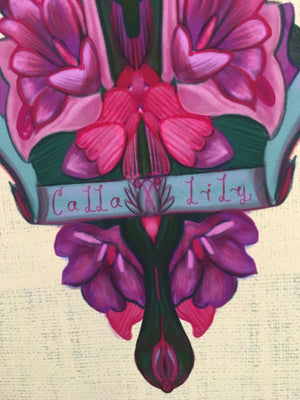 """Calla Lily"" French Flower Artwork - Original Print 1 of 1"