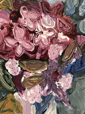 """The Dynamics of Painting Flowers 2"" Flower Painting"