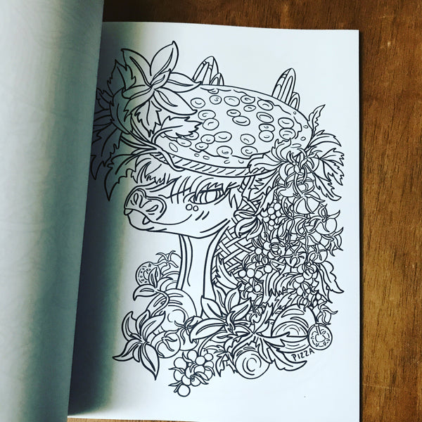 Dragon Food Coloring Book - Dragons as Food and With Food