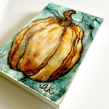 "Load image into Gallery viewer, ""Pumpkin 2"" Mixed Media Artwork"