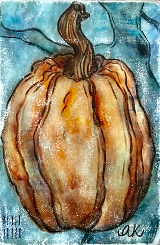 """Pumpkin 2"" Mixed Media Artwork"
