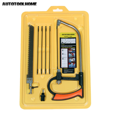 AUTOTOOLHOME 8 in 1 Metal Magic Saw DIY Hand Saw