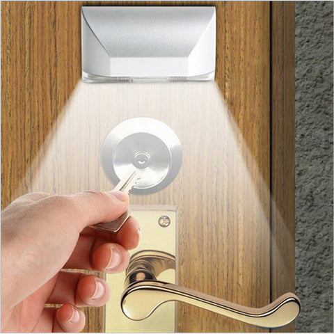 Motion sensor led light for door lock