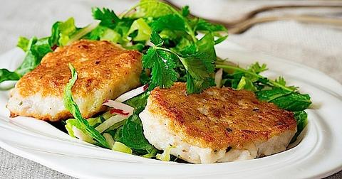 Jerk Fish Cakes with Citrus Salad