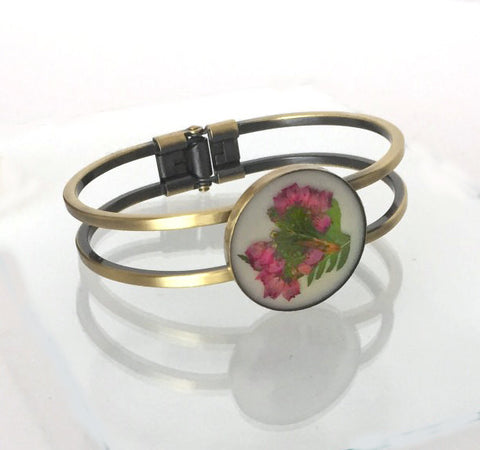 Outlander Scottish Heather Cuff Bracelet -  FREE SHIPPING OJ07