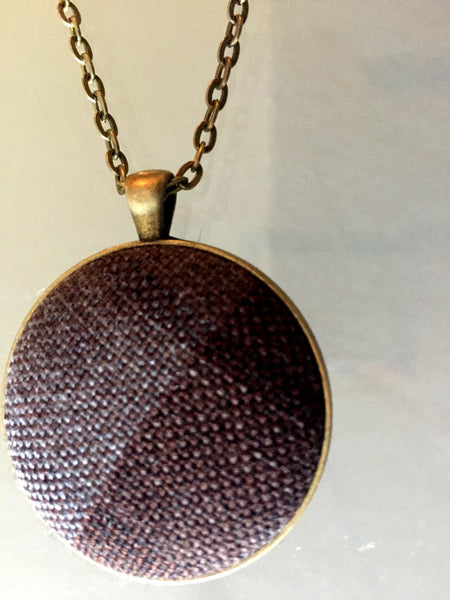 Outlander Tartan pendant necklace