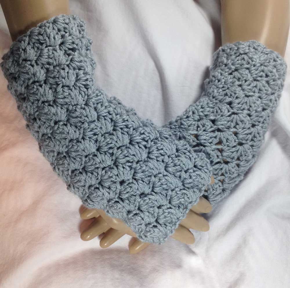 Silver Winter Fingerless Texting Gloves- FREE SHIPPING G04