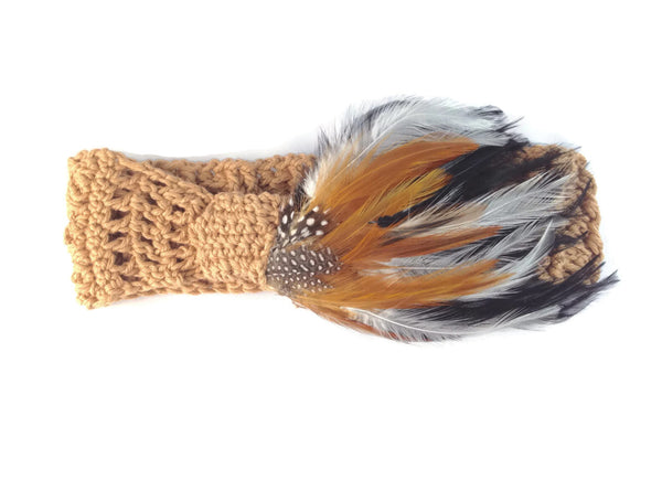 Scottish Highland Forest Feather Headband - FREE SHIPPING AC03