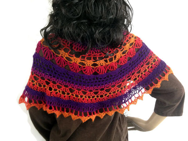 Scottish Norse Capelet, Scarf or Shawlette - FREE SHIPPING SH78