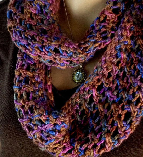 Scottish Wildflower Cowl or Circle Scarf - FREE SHIPPING C5