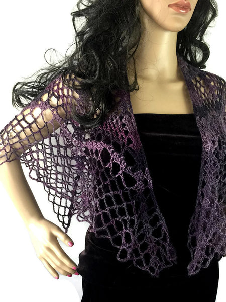 Outlander Purple Mystical Swooning Shawl -FREE SHIPPING SH72