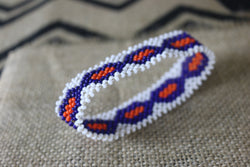 Art# K66  4 inch Original Kayapo Traditional Peyote stitch Beaded Bracelet from Brazil.