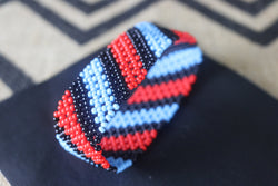 Art# K73  4 inch Original Kayapo Traditional Peyote stitch Beaded Bracelet from Brazil.