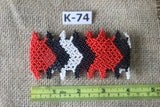 Art# K74  4 inch Original Kayapo Traditional Peyote stitch Beaded Bracelet from Brazil.