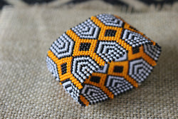 Art# K99 3 inch  Original Kayapo Traditional Peyote stitch Beaded Bracelet from Brazil.