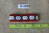 Art# K109  3.5 inch Original Kayapo Traditional Peyote stitch Beaded Bracelet from Brazil.