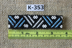 Art# K353  3.5+ inch. Original Kayapo Traditional Peyote stitch Beaded Bracelet from Brazil