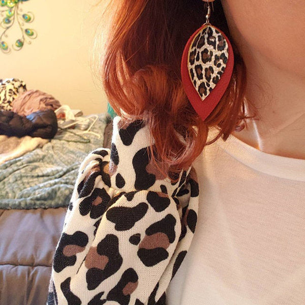 Double Layer Animal Print Earrings For Your Wearing Pleasure