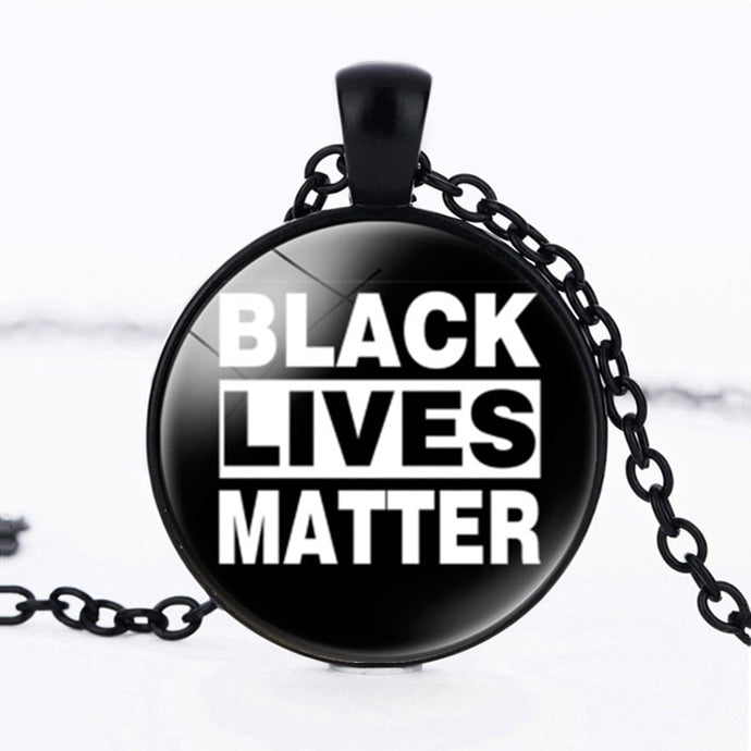 Black Lives Matter Pendant Necklaces......Stay Woke! Support The Cause.....