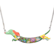 Load image into Gallery viewer, Bonsny Women's Metal Alloy Enamel Dachshund Dog Choker Necklace Chain Collar Pendant